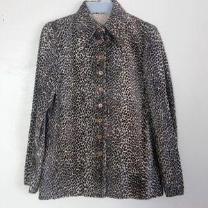Vtg 60s/70s Chuck Howard Leopard Print Jacket 8